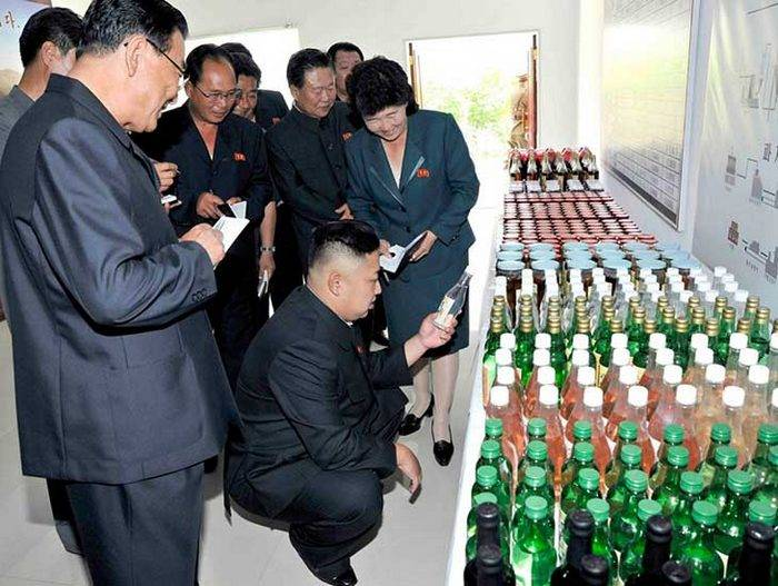 "In North Korea banned ""booze"""