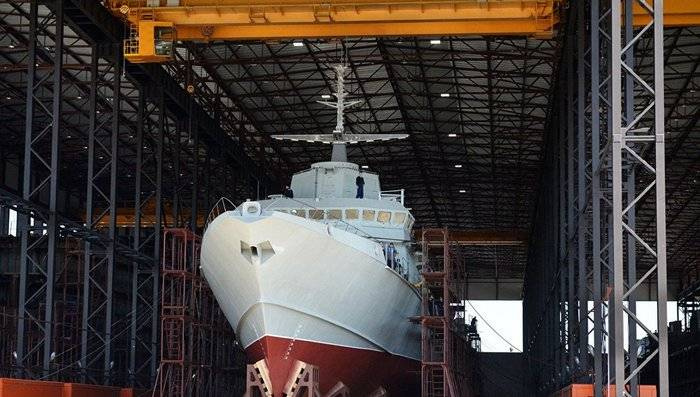In St. Petersburg, a new ship of the 22800 Typhoon project will be launched