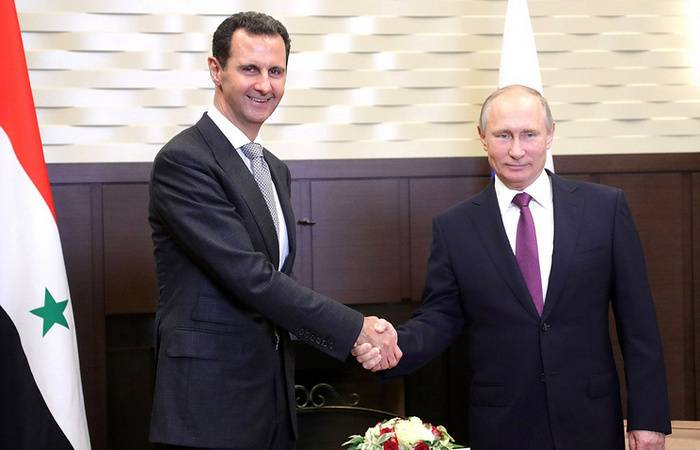 The meeting of the presidents of Russia and Syria took place in Sochi