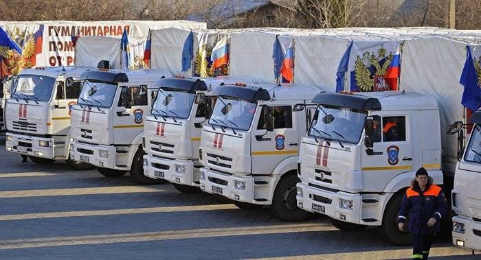 Ministry of Emergency Situations formed another convoy with humanitarian aid for Donbass