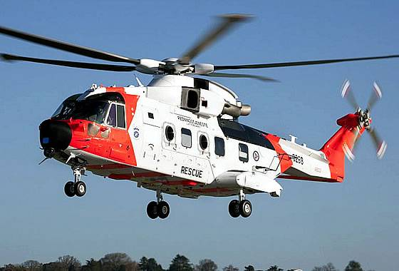 Norway received the first search and rescue helicopter AW-101