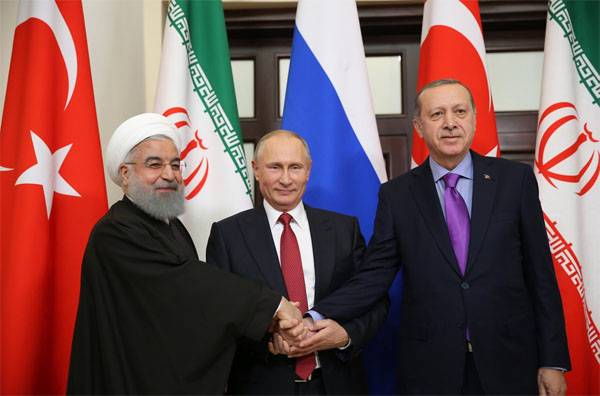 Russian President holds meeting with Erdogan and Rouhani