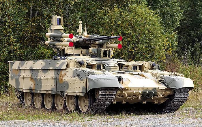 सैन्य बीएमपीटी टर्मिनेटर की आपूर्ति के लिए अनुबंध का कार्यान्वयन