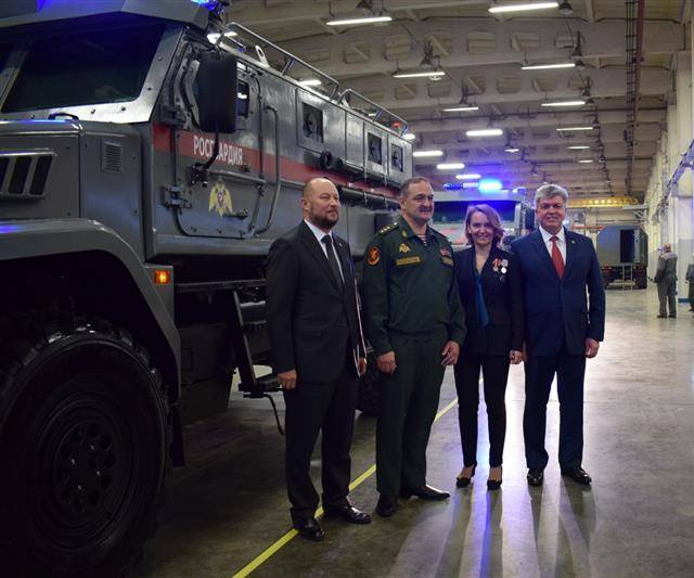 "Rosgvardiya received ten armored vehicles ""Patrol"""