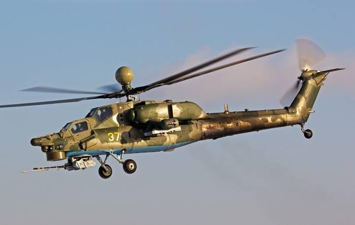 Aviação do Exército do Distrito Militar do Sul reabastecido com o mais recente Mi-28UB