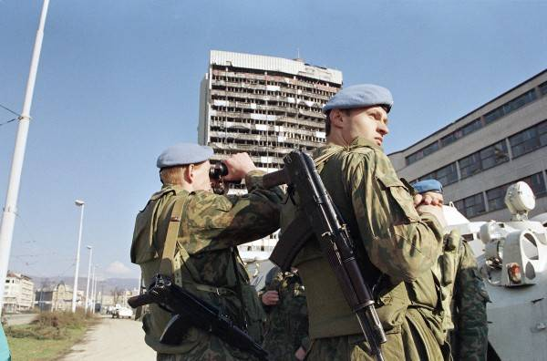 Russia's participation in peacekeeping and peacekeeping operations in Former Yugoslavia