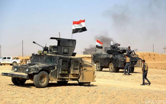 이라크 군은 무장 세력에서 서쪽의 모든 사막 지역을 해방시켰다.