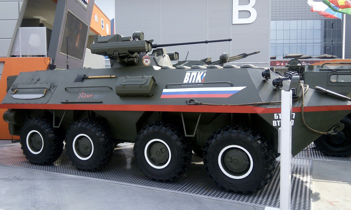 The newest BTR-87 will be turned into a light-wheeled self-propelled gun