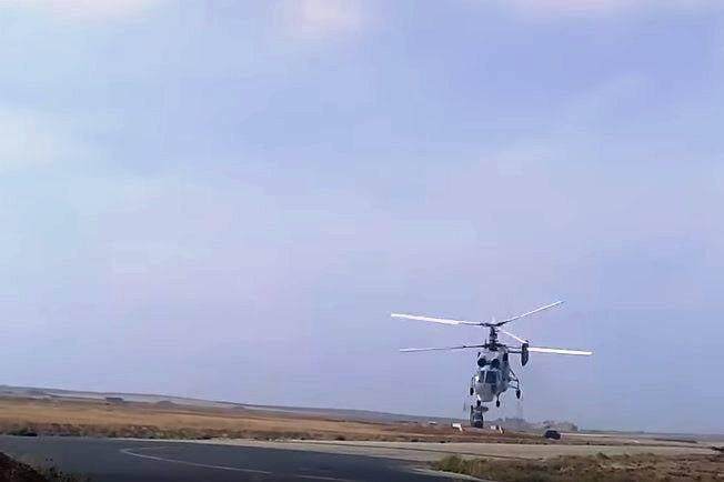 Nouveaux plans d'un bombardier d'hélicoptères Ka-28 en Syrie