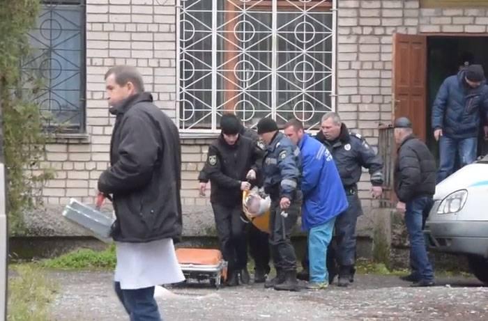 Doppelexplosion vor Gericht von Nikopol (Ukraine)