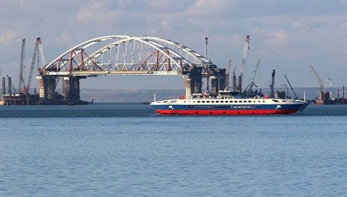 Kiev threatens sanctions to all companies associated with the Crimean bridge