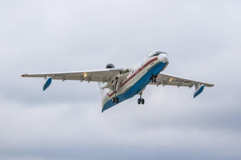 Поднялся в воздух третий Бе-200ЧС таганрогской сборки