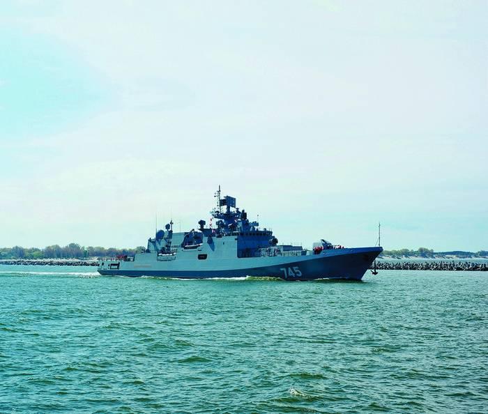 """护卫舰""""海军上将格里戈罗维奇""""返回地中海"""