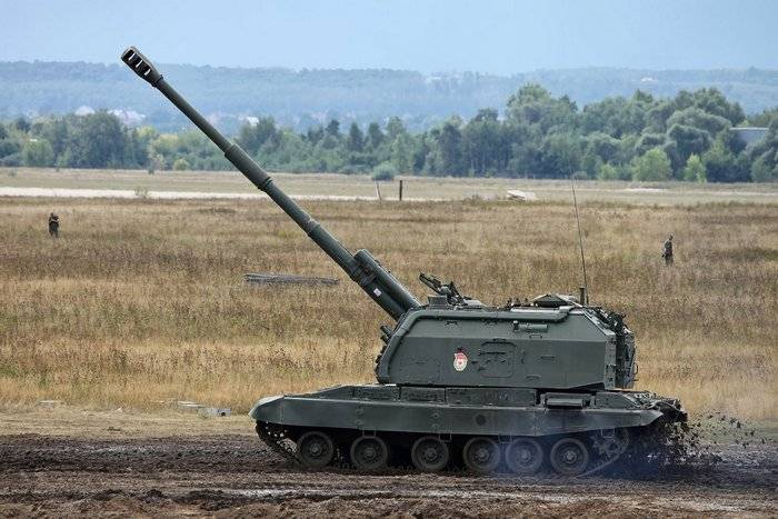 "ZVO gunners received about a dozen howitzers ""Msta-S"""