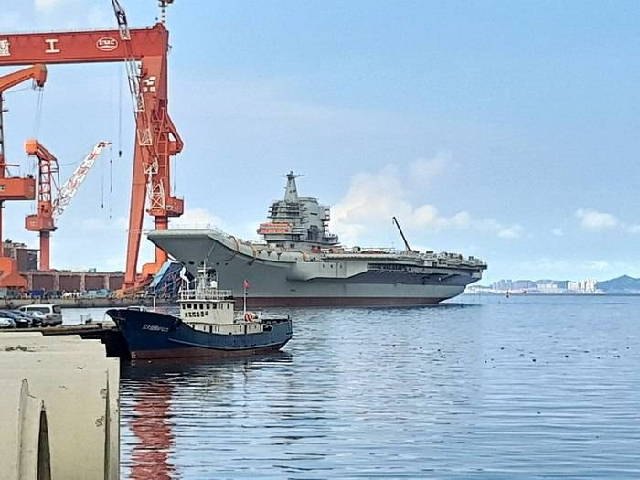A Chinese aircraft carrier of its own construction is ready for sea trials.