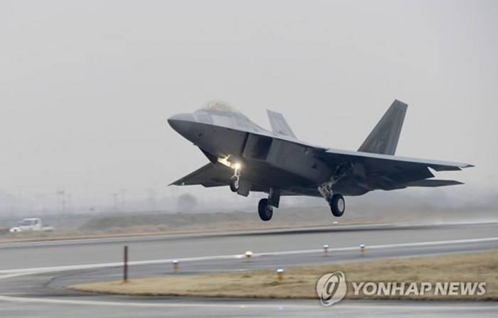 Medya: Amerikan savaşçısı F-22 Güney Kore'deki egzersizler sırasında çöktü