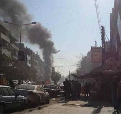 In the center of Homs thundered explosion