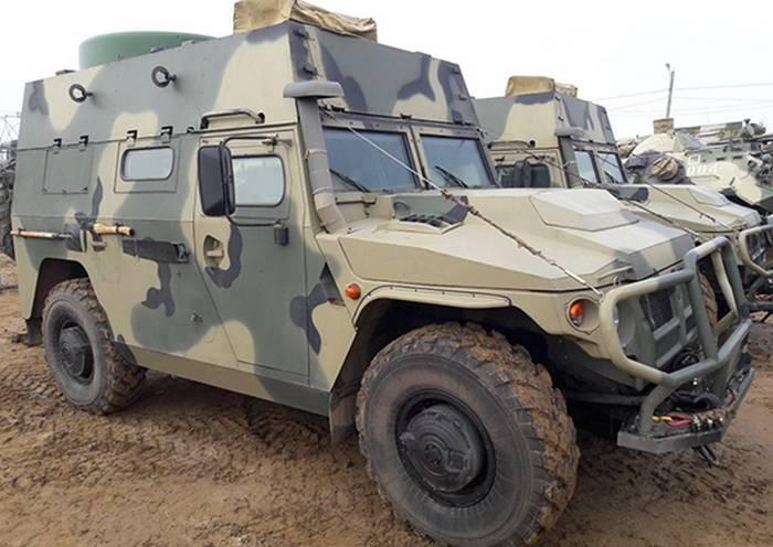 Sinais do Distrito Militar do Sudeste receberam novos veículos de controle baseados no Tiger-M