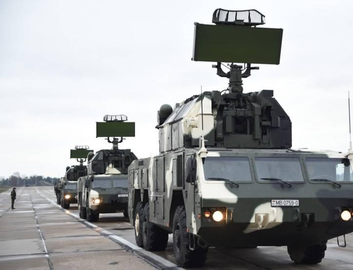 在白俄罗斯建立了一个配备Tor-M2K复合体的团