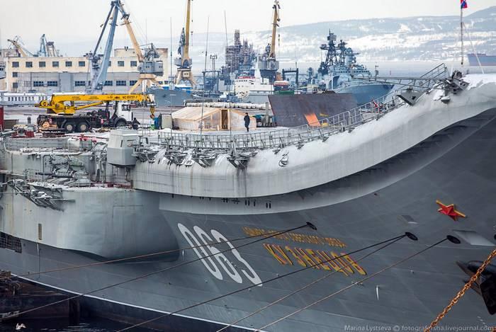 巡洋艦「提督クズネツォフ」は2018で修理を開始します