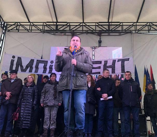 由于Saakashvili和Poroshenko脑evroantikam吹