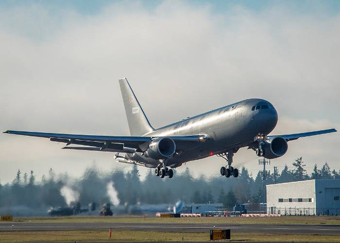 New American KC-46A Pegasus Tanker made its first flight