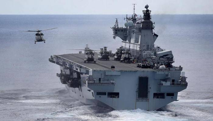 """The Brazilian Navy will replenish the British helicopter carrier """"Ocean"""""""