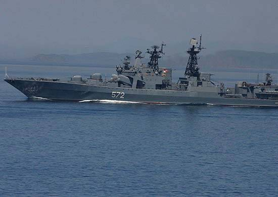 A squad of Russian ships arrived in Myanmar