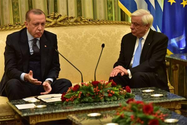 O que Erdogan disse em Atenas?