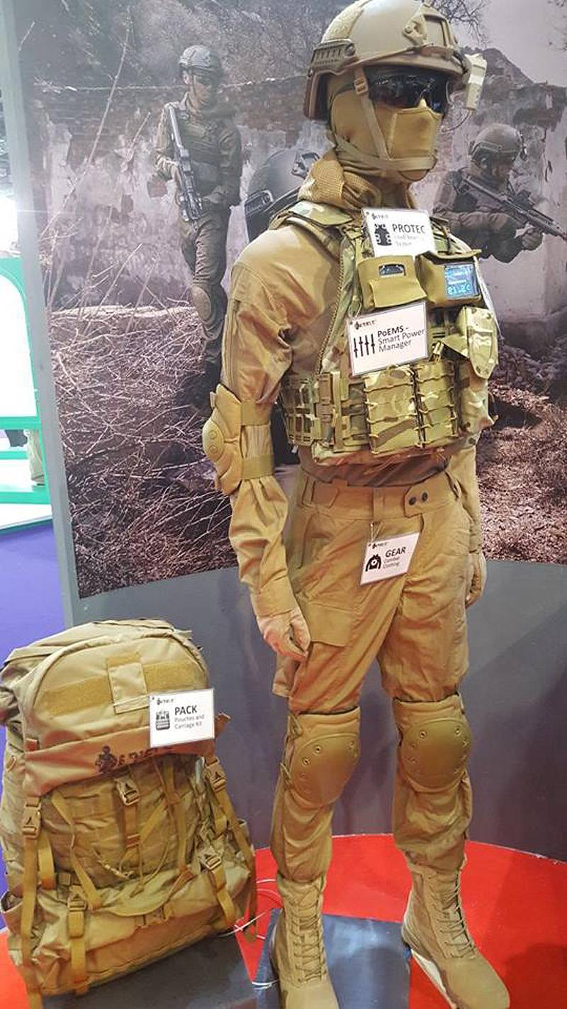 Modern soldier and his equipment