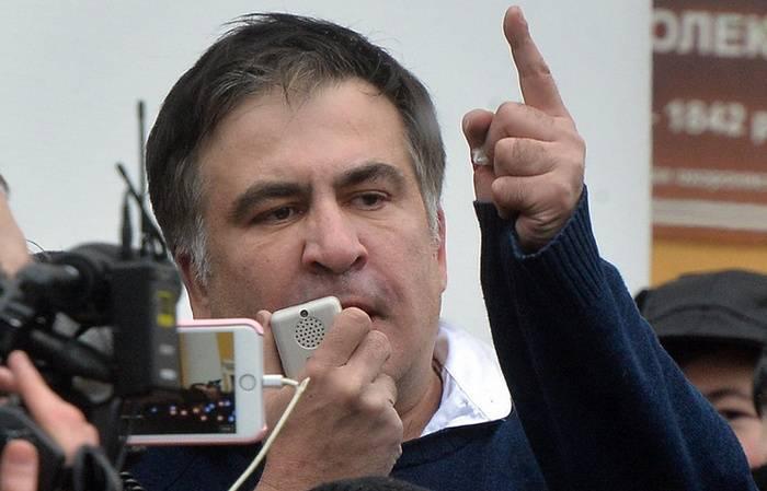 키예프에서 구금 된 미하일 사 카슈 빌리