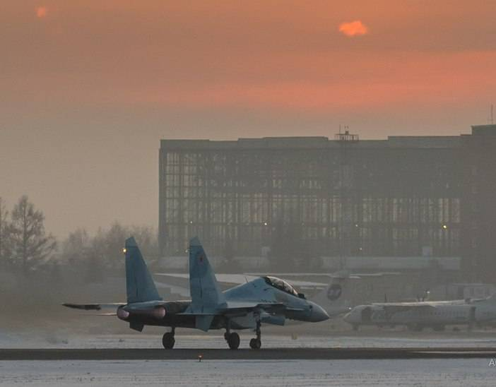 Three Su-30CM fighters entered the 14 Guards Fighter Aviation Regiment