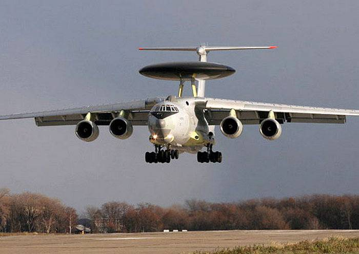 Airborne ARLO A-50 plane arrived in Ivanovo after successfully completing tasks in Syria