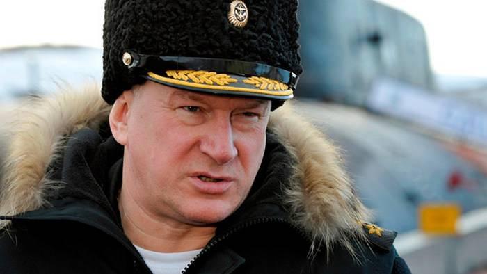 Il comandante della flotta settentrionale Nikolai Evmenov ha ottenuto il grado di ammiraglio