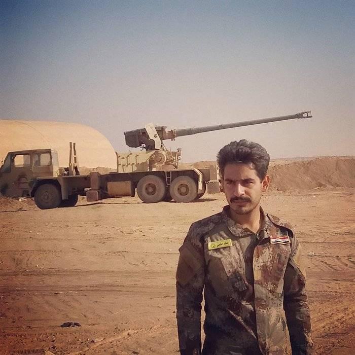 आतंकवाद के खिलाफ सेनानियों ने एक 130-mm बंदूक के साथ एक ट्रक क्रेन को पार किया