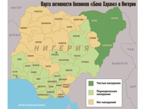 Убоевиков «Боко Харам» вНигерии силовики захватили самодельные автоматы издерева