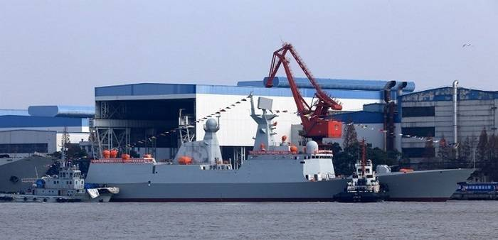 The Chinese Navy replenished with a new frigate