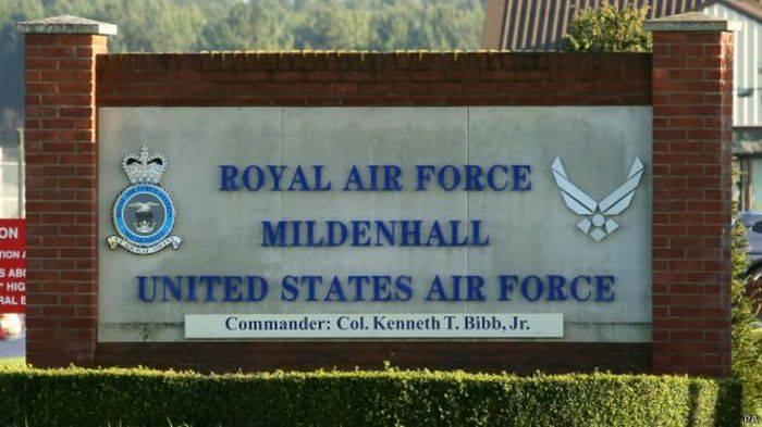 未知数はイギリスの米軍基地に突破しようとしました