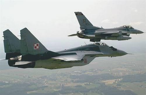MiG-29 caiu na Polônia
