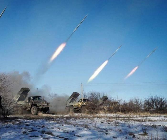 DNR: APU applied MLRS on gorlovskom direction