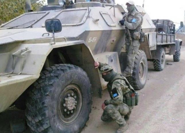 """En Siria se ve una modificación de reconocimiento del vehículo blindado """"Shot""""."""