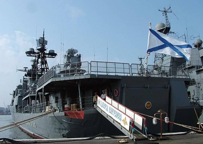 Un destacamento de barcos rusos llegó a Singapur.