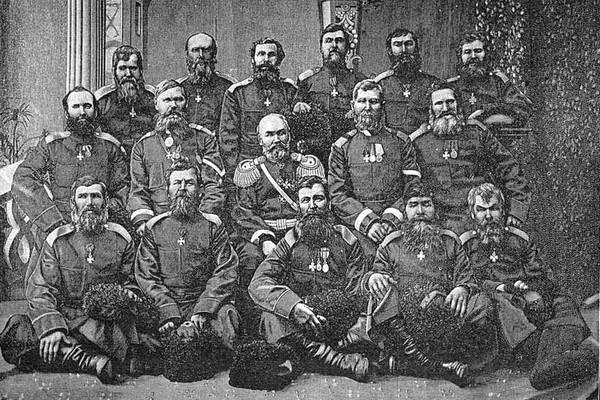 10 천 번째 Kokand 군대에 대한 백 코사크