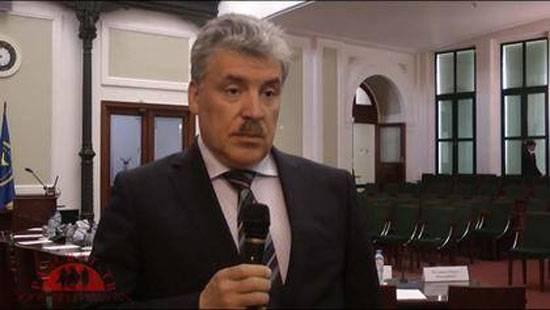 Zhirinovsky está participando, Zyuganov no es ...