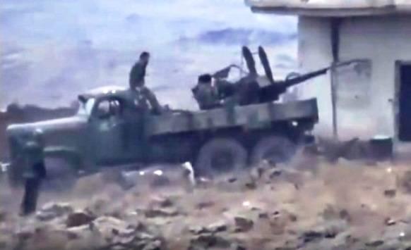 ZIL-157K mit einer doppelten 23-mm-Waffe in Syrien