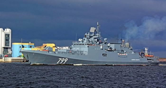 """Fregata """"Ammiraglio Makarov"""" consegnata al cliente"""