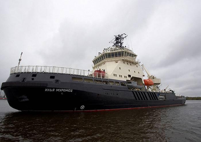"""Der Eisbrecher """"Ilya Muromets"""" machte sich auf den Weg in die Barentssee"""