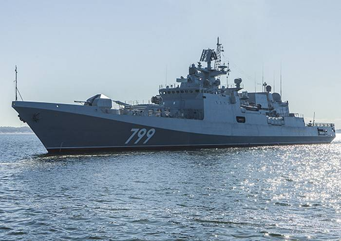 "On the patrol ship ""Admiral Makarov"" raised the flag of St. Andrew"