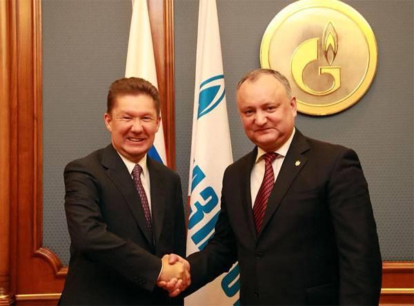 Quel rabais le président moldave at-il demandé à Miller?