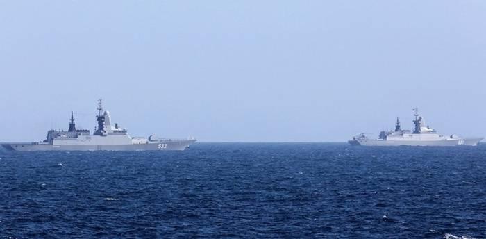 Flota del Báltico Corvettes realizó ejercicios en el mar Mediterráneo